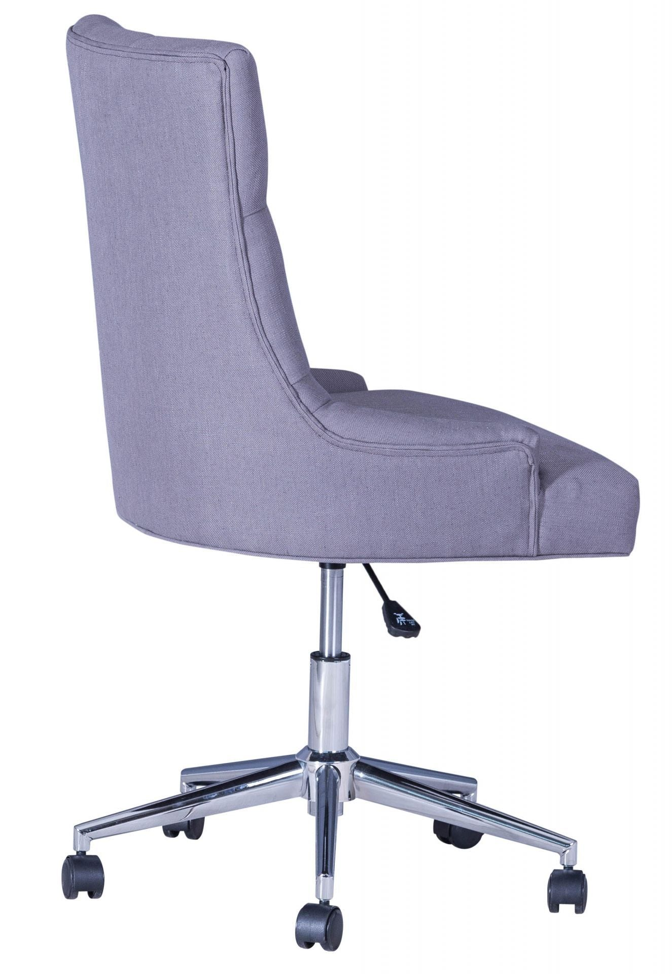 Scuttle Office Wing Backed Button Chair In Grey Fabric