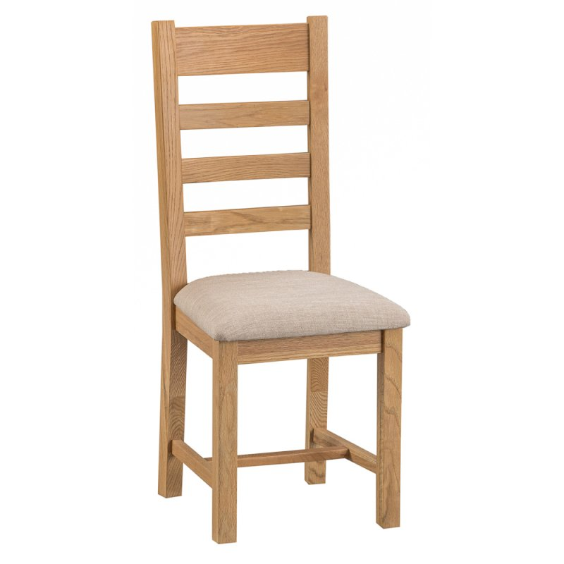 Montana Country Ladder Back Chair Fabric Seat  sc 1 st  Oak Furniture Europe & Montana Country Ladder Back Chair Fabric Seat u2013 Oak Furniture Europe