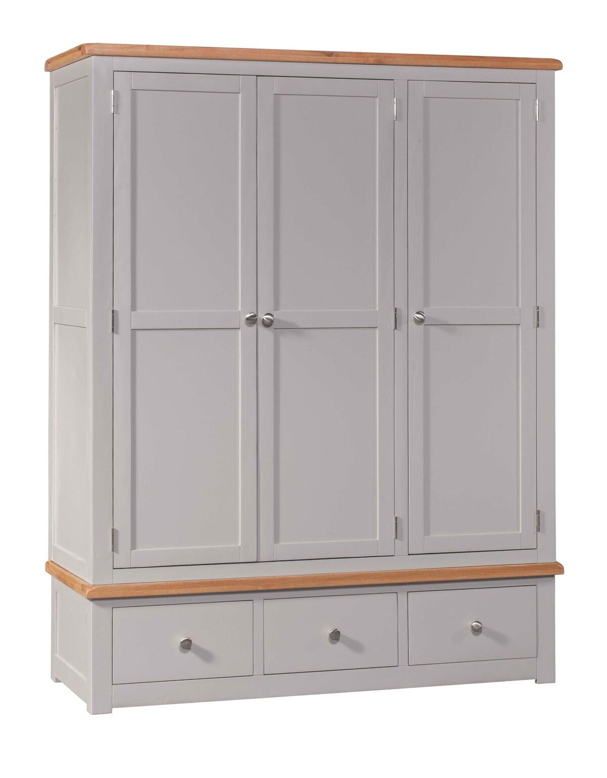 Cinza Grey Triple Wardrobe