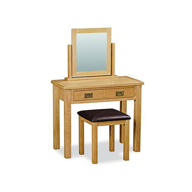 Essentials Lite Oak Dressing Table Set