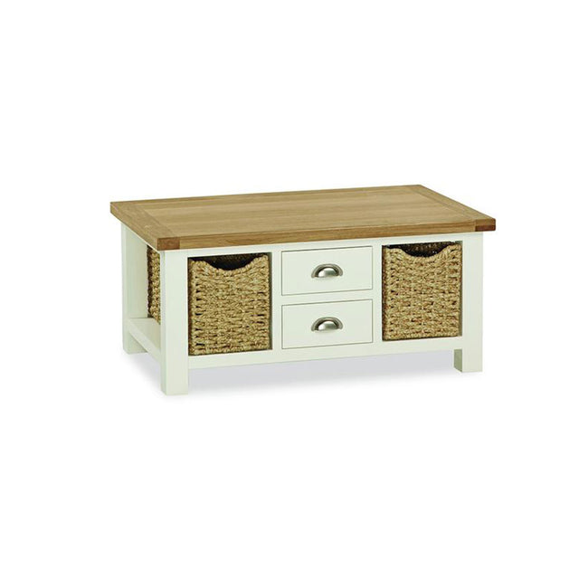 Santana Large Coffee Table With Baskets