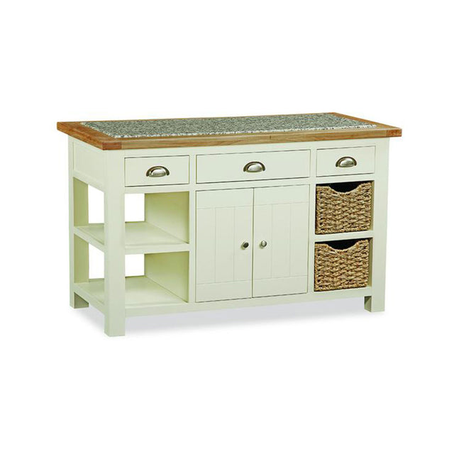 Seville Painted Off White Kitchen Island