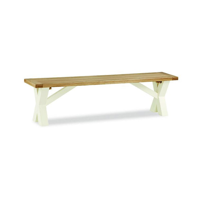 Seville Off White Dining Table Bench