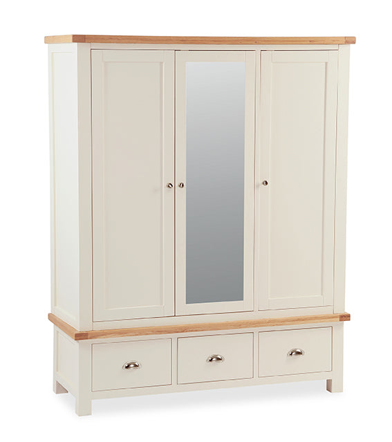 Santana Cream Triple Wardrobe