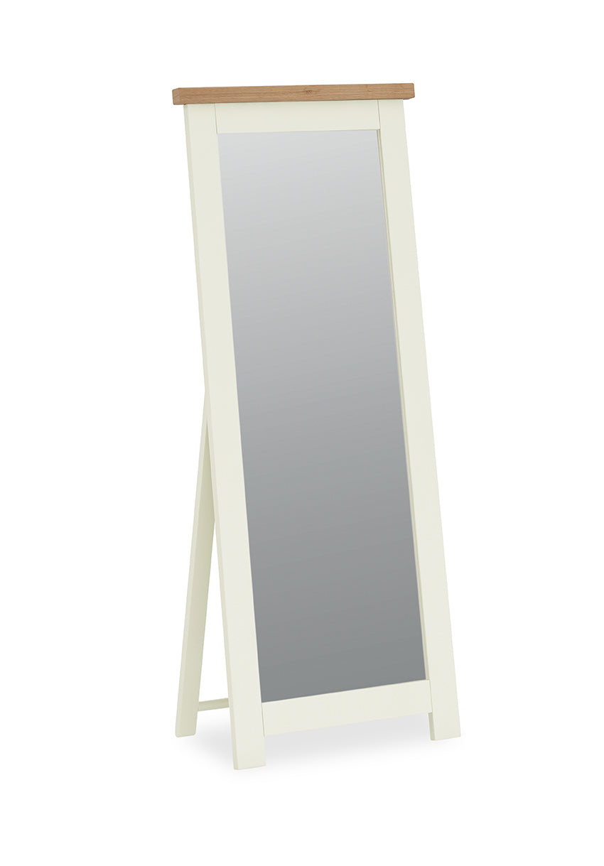 Seville Off White Cheval Mirror