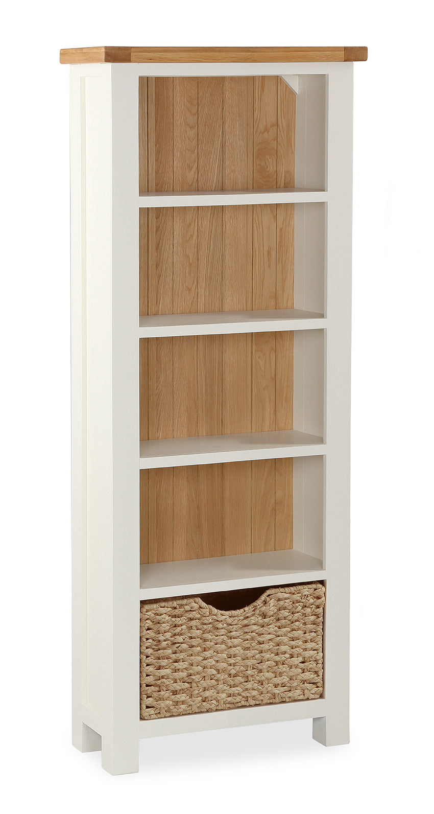 Santana Cream Slim Bookcase
