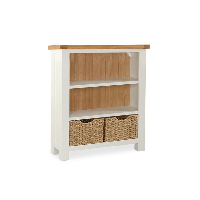Seville Painted Off White Low Bookcase
