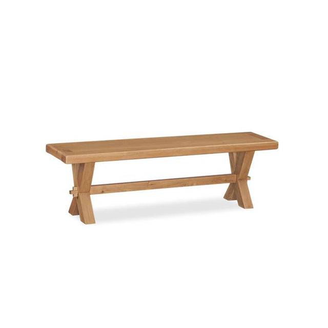 Oak Cross Dining Bench