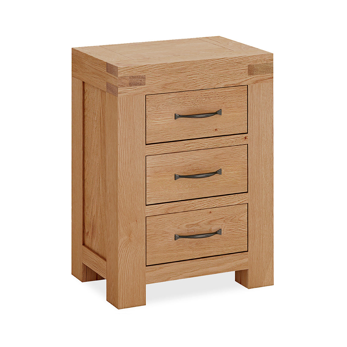 Montreal Country Oak 3 Drawer Bedside