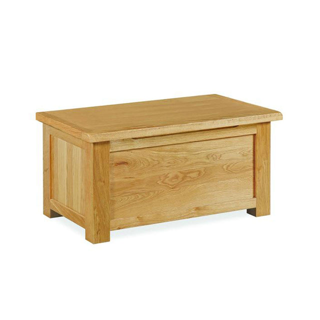 Essentials Lite Oak Blanket Box