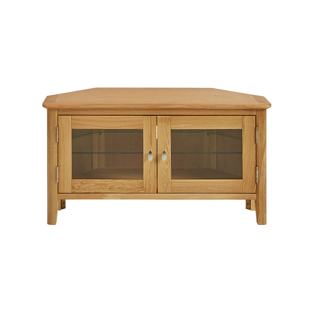 Bath Oak Corner TV Unit