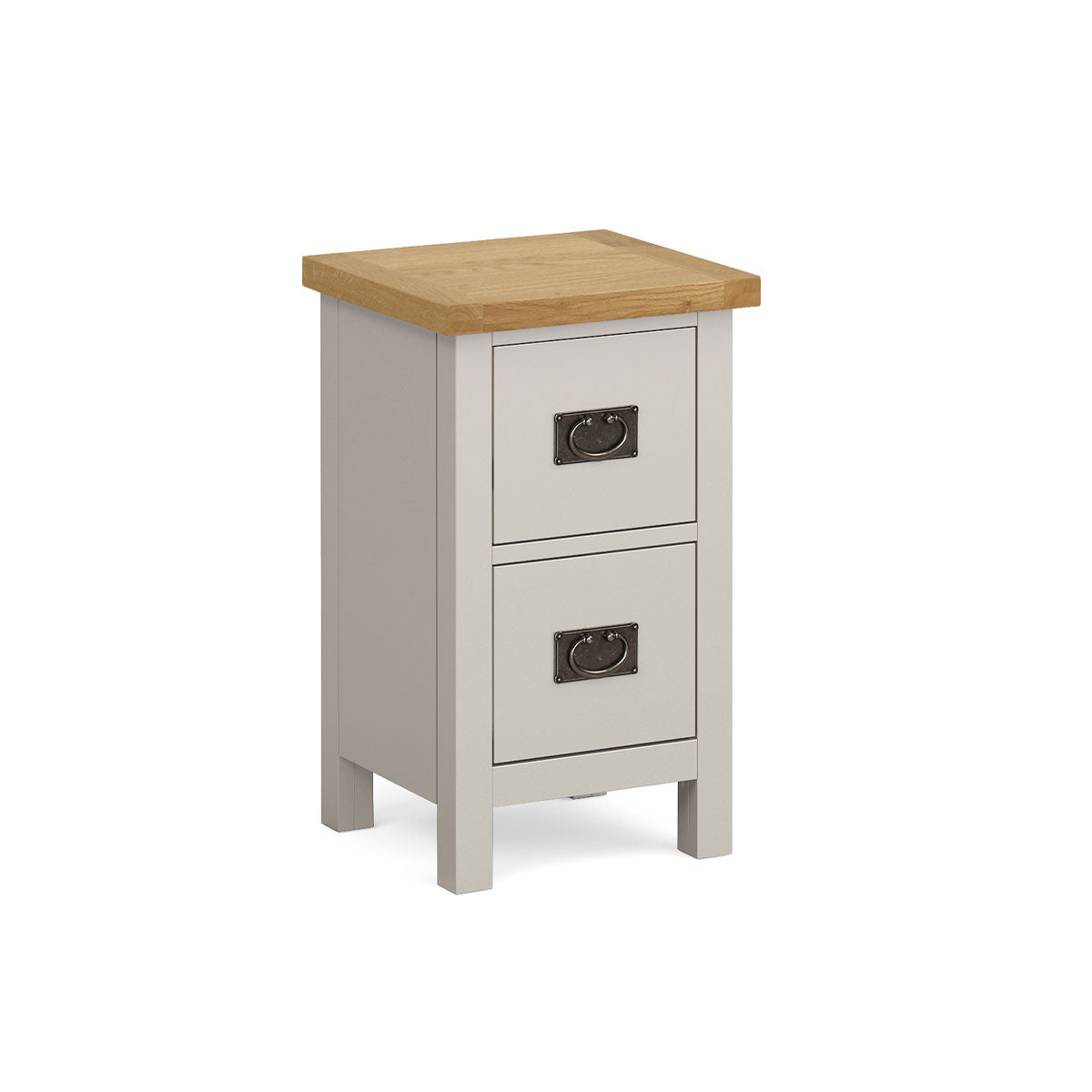 Devon Painted Oak Slim Bedside 2 Drawer