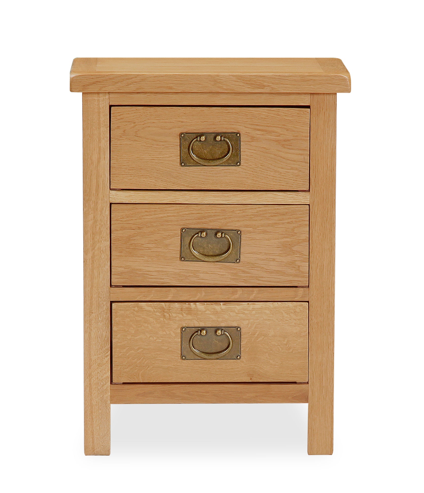 Essential Lite Oak 3 Drawer Bedside