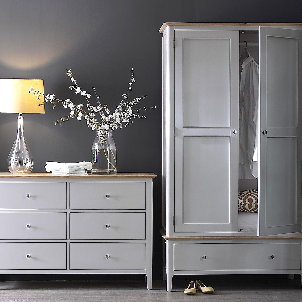 Malaga Dove Grey 6 Drawer Chest