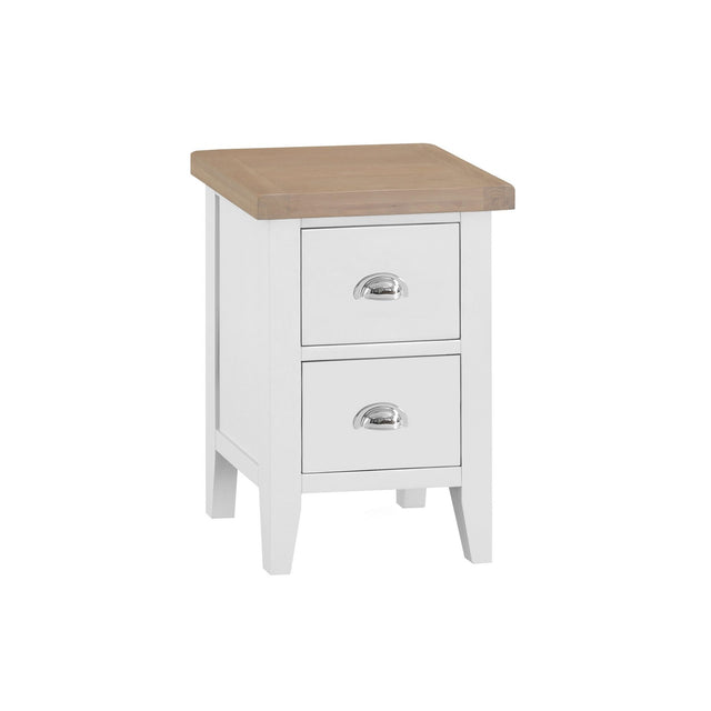 Seville White Small Bedside Cabinet