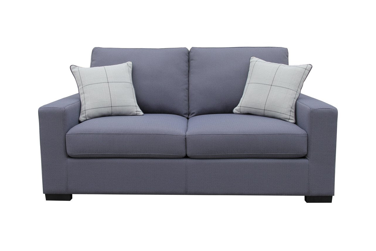 Milan Sofa Bed - Fabric Slate Blue