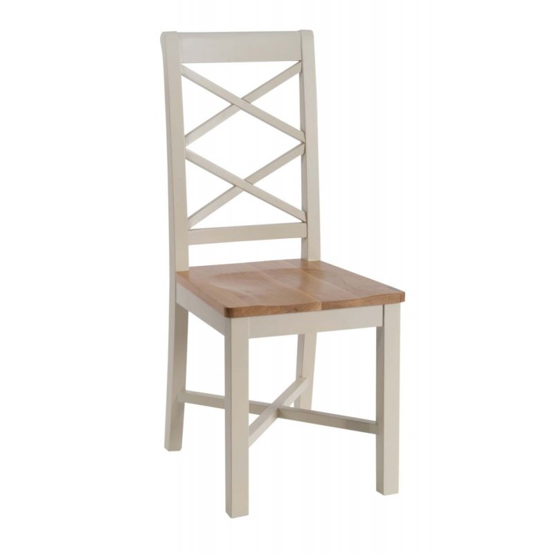 Turin Painted Oak Dining Chair With Wooden Seat