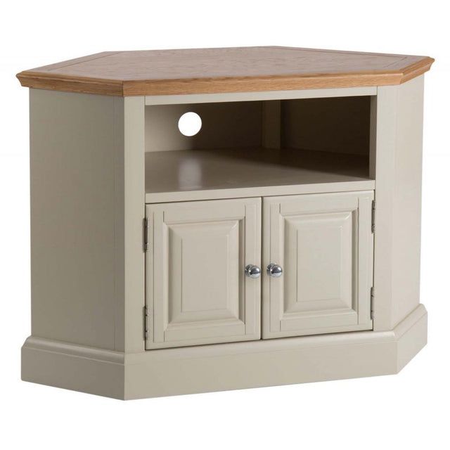 On Sale Turin Painted Oak Corner TV Unit