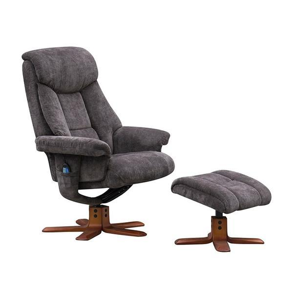 Velez Massage Chair In Charcoal Or Mink  Fabric