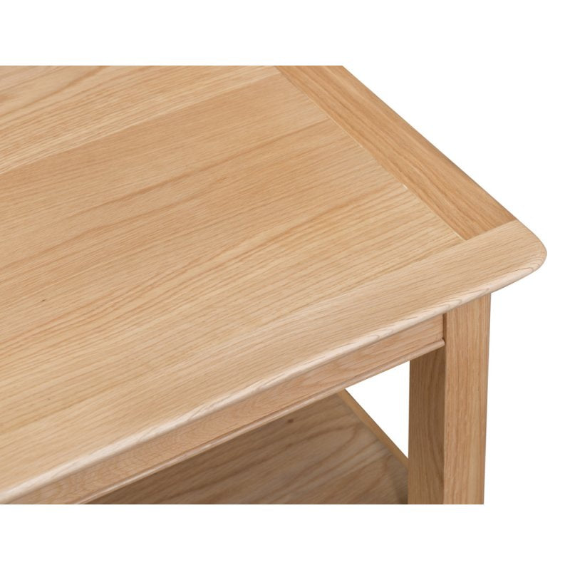 Malaga Oak Coffee Table With Shelf