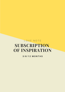 Subscription of Inspiration