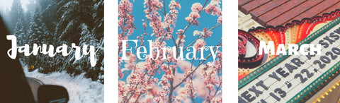 january february march playlists