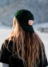 explorers green cord cap