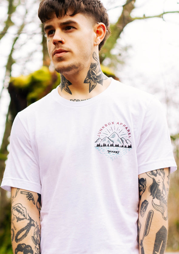 junkbox lakeside white tshirt