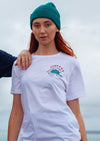white junkbox surf tshirt