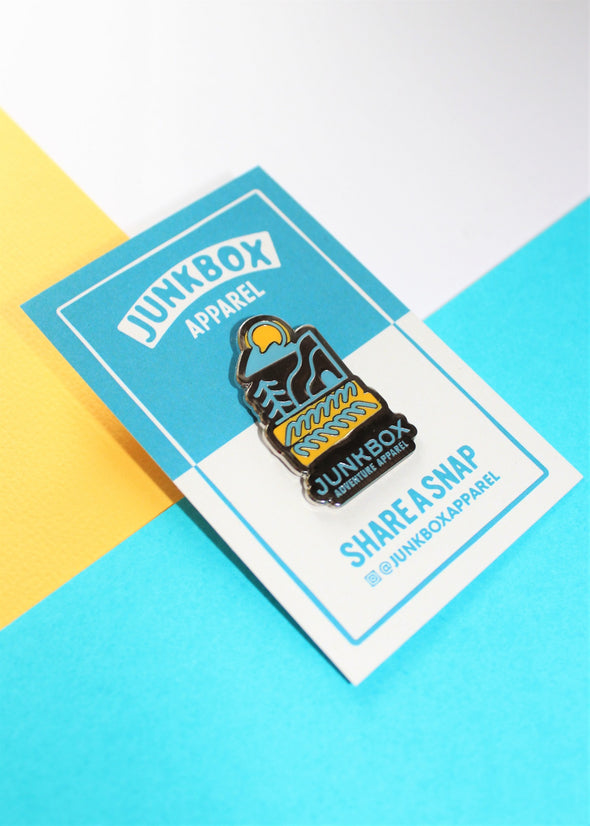 new wave enamel pin
