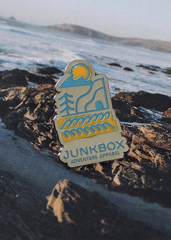 new wave enamel pin badge