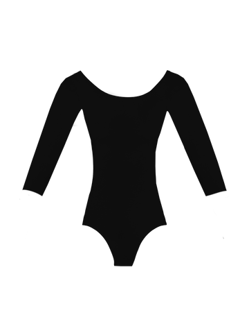 Maya - Long Sleeve Leotard with Sunset V-back