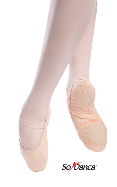 SoDanca SD16 Adult Canvas Split Sole Ballet Shoe