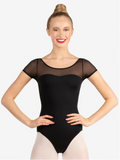 Capezio Mesh Yoke Short Sleeve