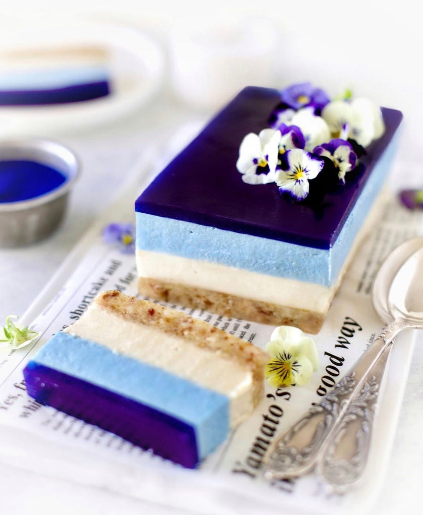 Blue Vegan Cheesecake