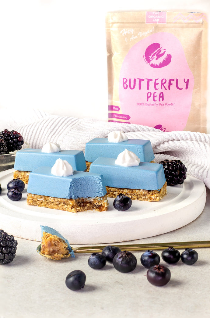 Vegan Butterfly Pea Cheesecake