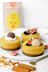Pumpkin Spice Raw Vegan Cheesecakes
