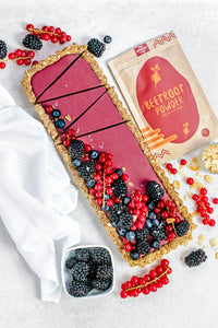 Vegan Beetroot and Raspberry Tart