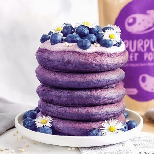 Purple Sweet Potato Pancakes