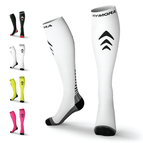 White Compression Socks (Cushioned)