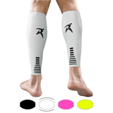 White Calf Compression Sleeves