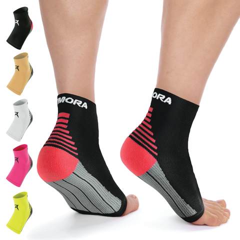 Black Plantar Fasciitis Foot Compression Sock Sleeves