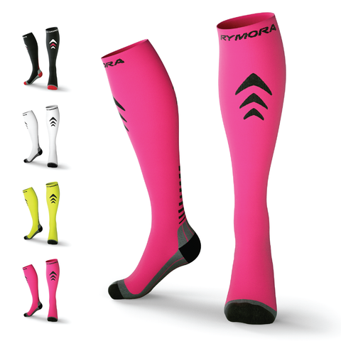 Pink Compression Socks (Cushioned)