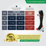 Black Compression Socks (Cushioned) (15-20mmHg)