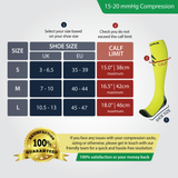 Fluorescent Compression Socks (Cushioned) (15-20mmHg)