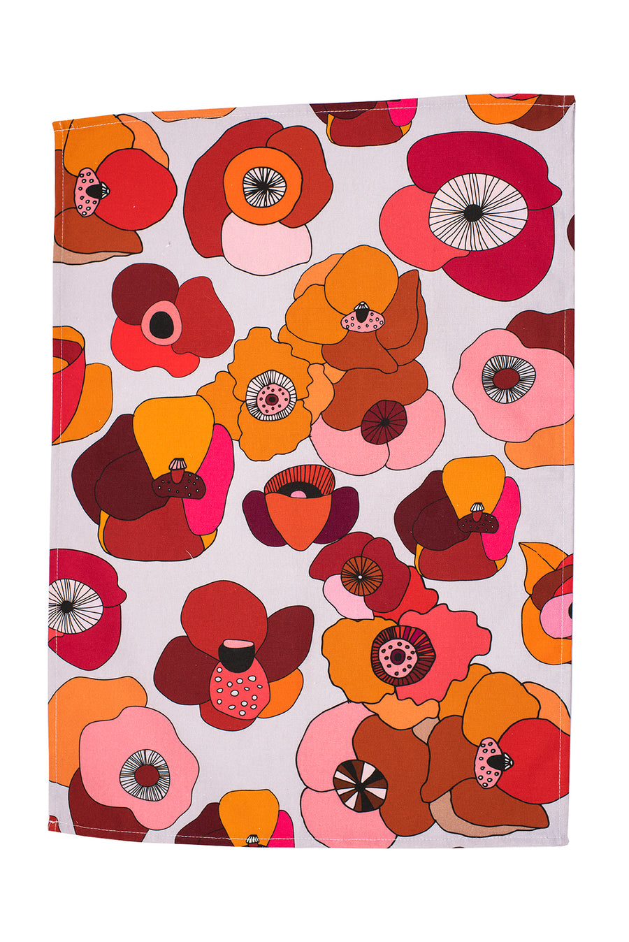 Poppy Red Tea Towel