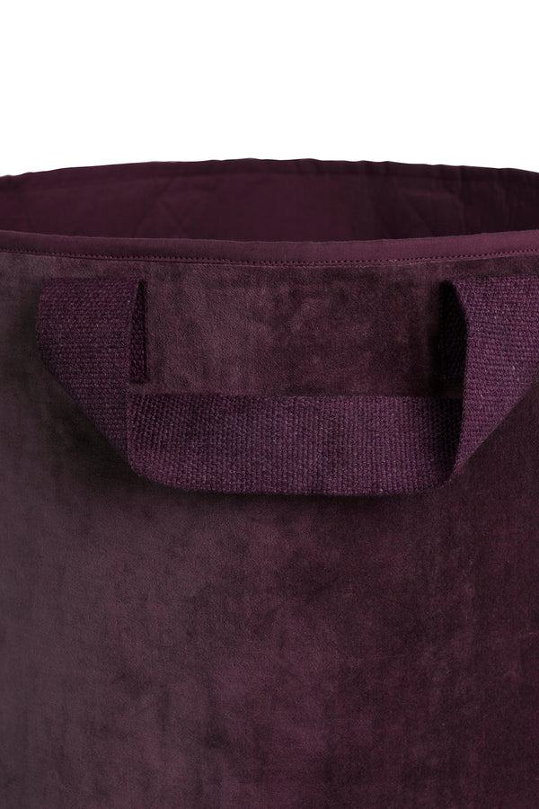 Maxi opbevaringspose, dark berry velour