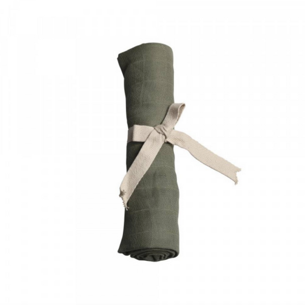 Muslin stofble, GOTS, Olive Green