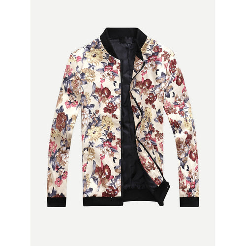 Men Allover Floral Print Jacket