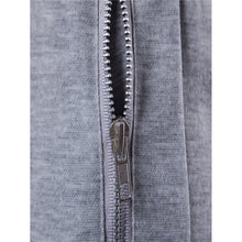 Men Zip Decoration Plain Drawstring Sporty Pants